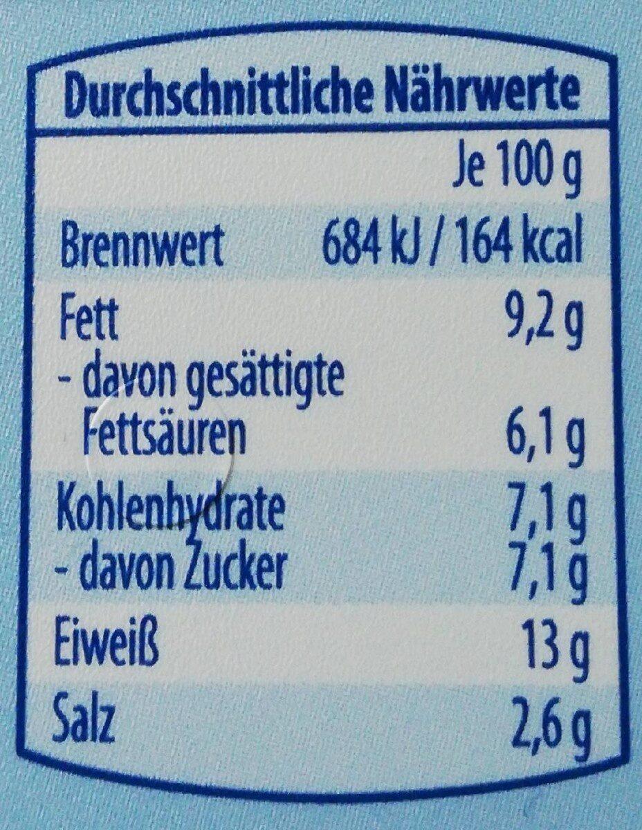 Schmelzkäse Creme leicht - Voedingswaarden - de