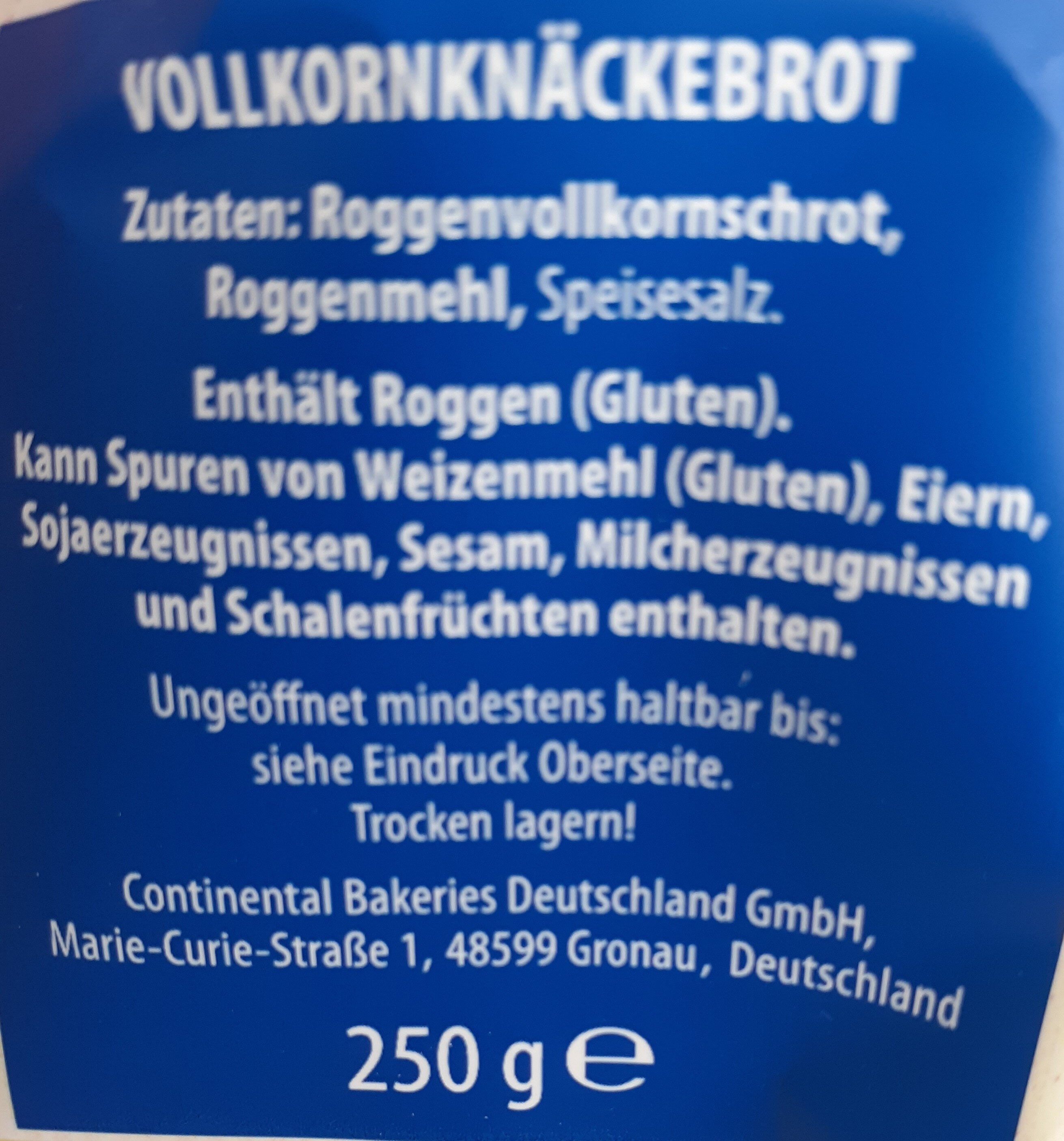 Knäckebrot - Ingredients - en