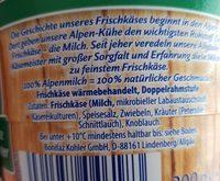 Frischkäse-fass - Ingrediënten - fr