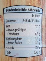 Frischkäsezubereitung Wärmebehandelt, Fettstufe - Informations nutritionnelles - de