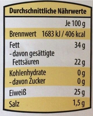 Blütenkäse - Informations nutritionnelles - en