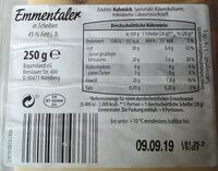 Emmentaler - Nutrition facts