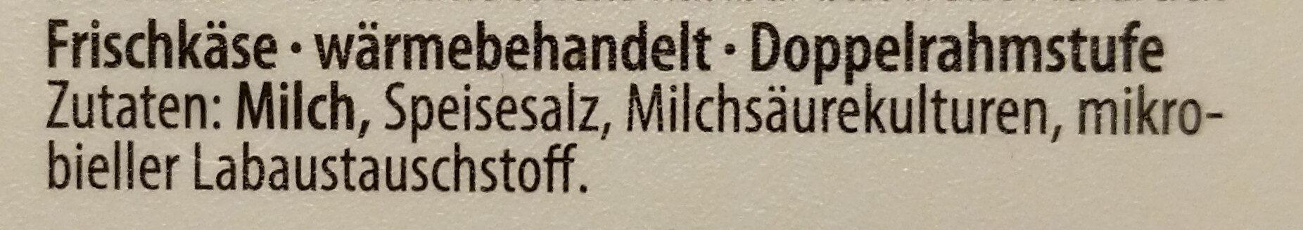 Frischkäse - Ingrédients - de