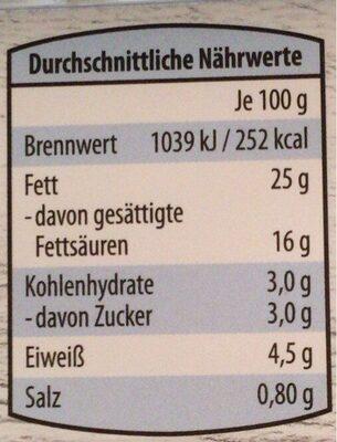 Frischkäse - Informations nutritionnelles - de