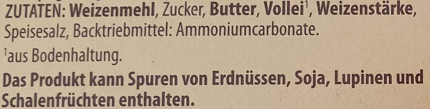 Feinste Knusperwaffeln - Inhaltsstoffe - de