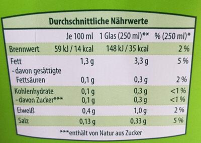 Bio Mandel Drink - Nutrition facts - de