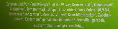 BIO-JACKFRUIT Curry - Ingredients