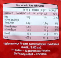 Nuss-Variation - Nutrition facts - de