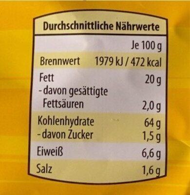Tortilla Chips Käse - Nutrition facts - de