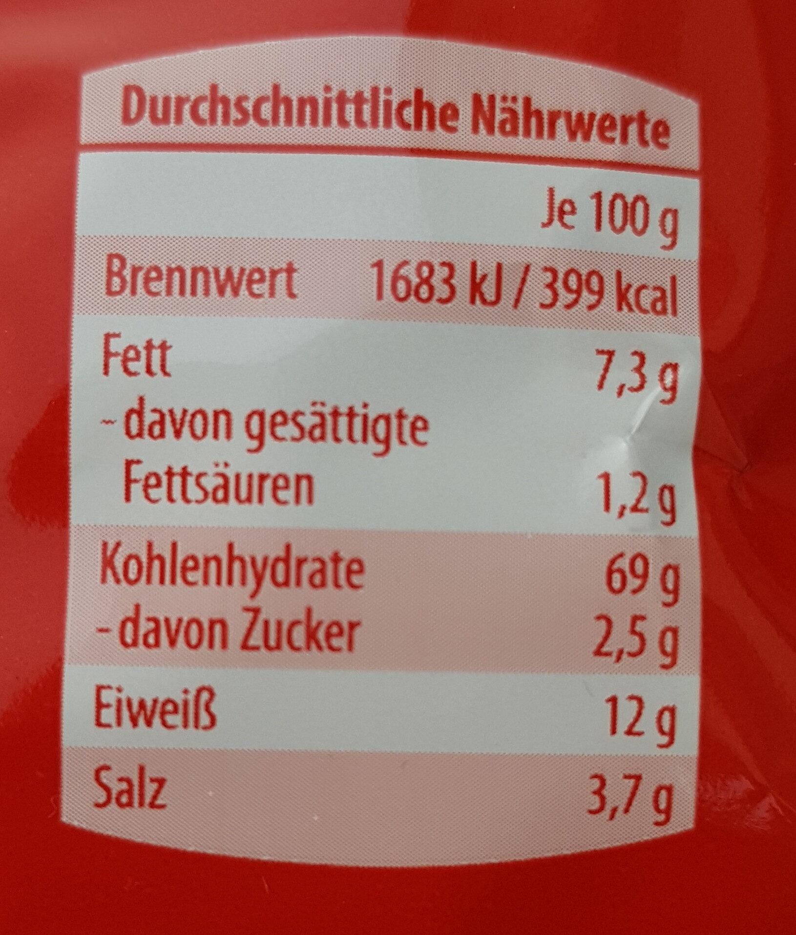 Salz Bretzeln - Nutrition facts - de