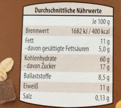 Schokomüsli - Nährwertangaben - de