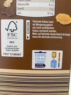 Schokomüsli - Wiederverwertungsanweisungen und/oder Verpackungsinformationen - de