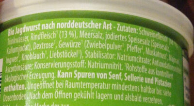 Jagdwurst nach norddeutscher Art - Ingredients