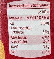 Stapel chips - Nutrition facts - en