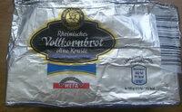 Rheinisches Vollkornbrot ohne Kruste Roggenvollkornbrot - Product
