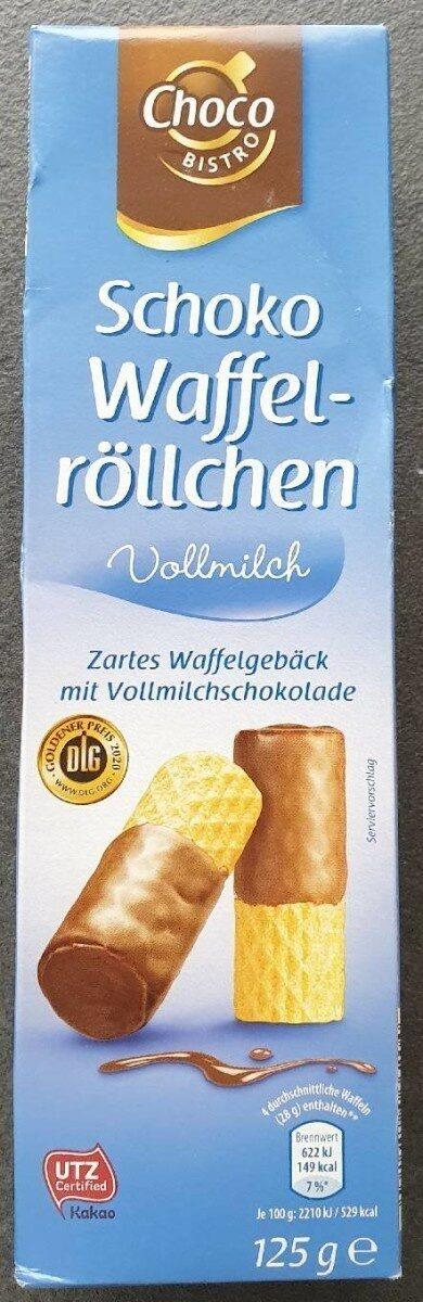 Schoko Waffelröllchen Vollmilch - Produit - de
