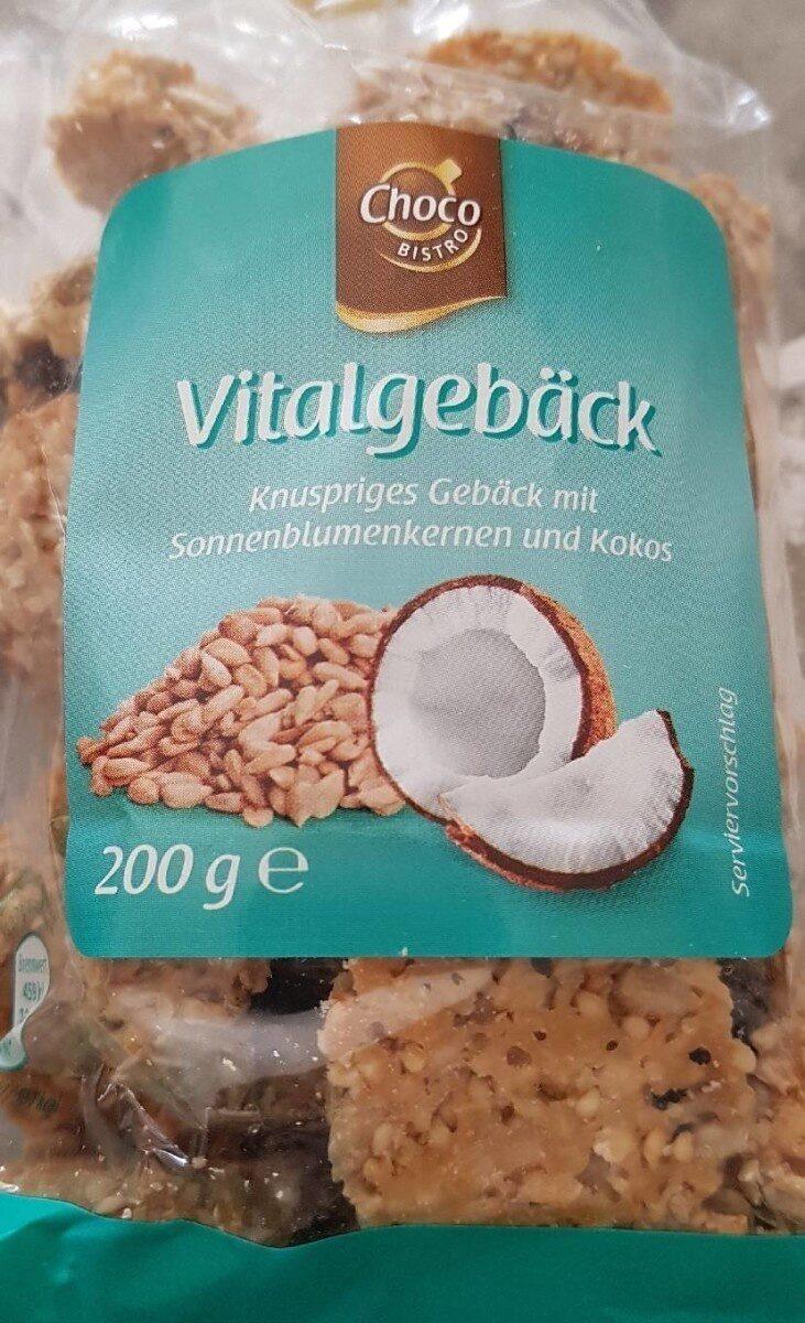 Vitalgebäck Knuspriges Gebäck mit Kokosraspeln und Kürbiskernen - Produit - fr