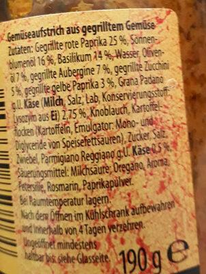 Gemüseaufstrich - Ingredients - de