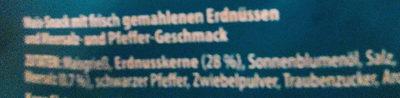 Flips Meersalz & Pfeffer Geschmack - Ingredients