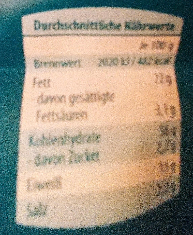 Flips Meersalz & Pfeffer Geschmack - Nutrition facts