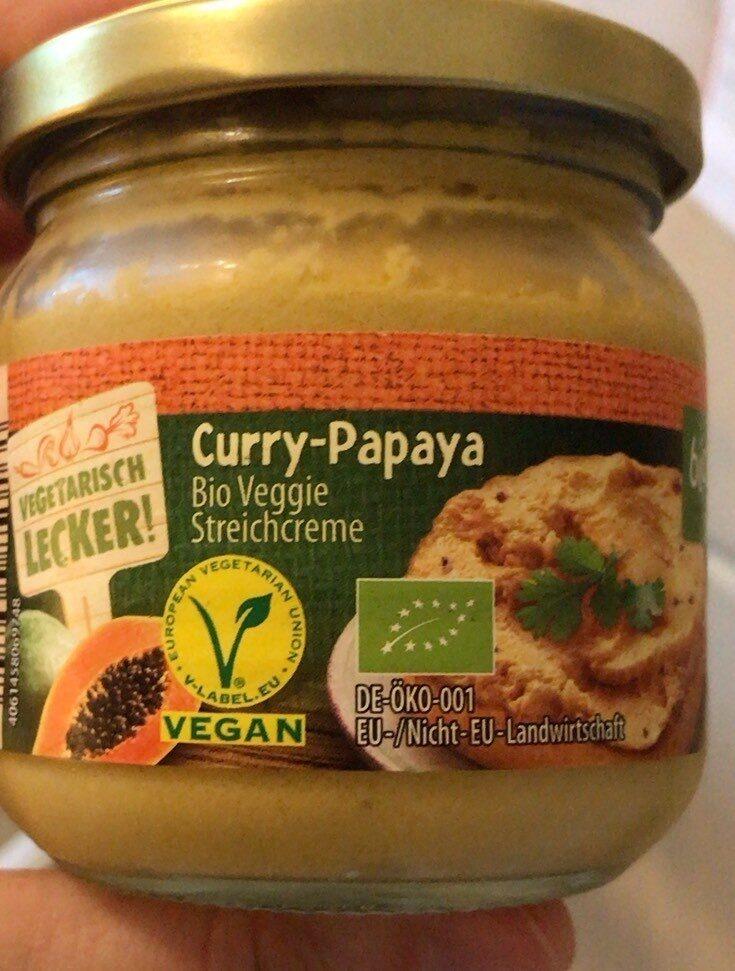 Curry Papaya Bio Veggie Streichcreme - Produit - de