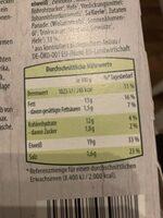 Bio Veggie Schnitzel - Informations nutritionnelles - de