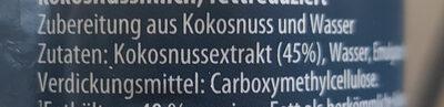 Kokosnussmilch - Ingredients