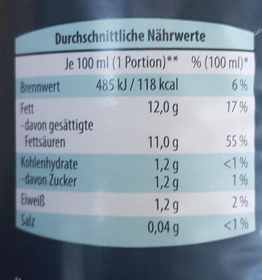 Kokosnussmilch - Nutrition facts