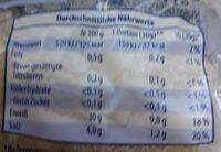 Harzer Käse - Nutrition facts - de