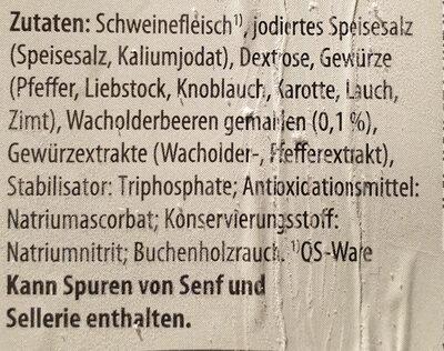 Wacholderschinken / Jambon fumé - Ingrediënten