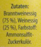Wein - Branntwein - Essig - Ingrédients - de