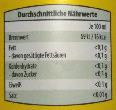 Wein - Branntwein - Essig - Informations nutritionnelles