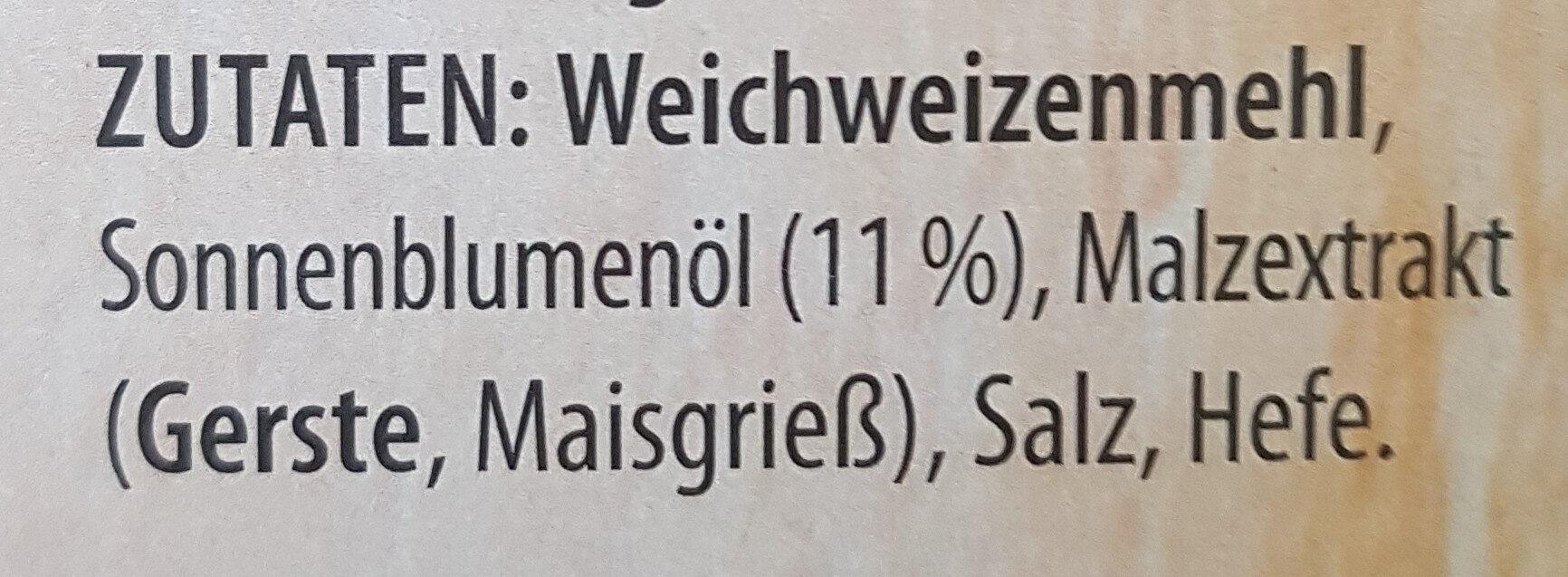 Crissini Torinesi - Ingredients