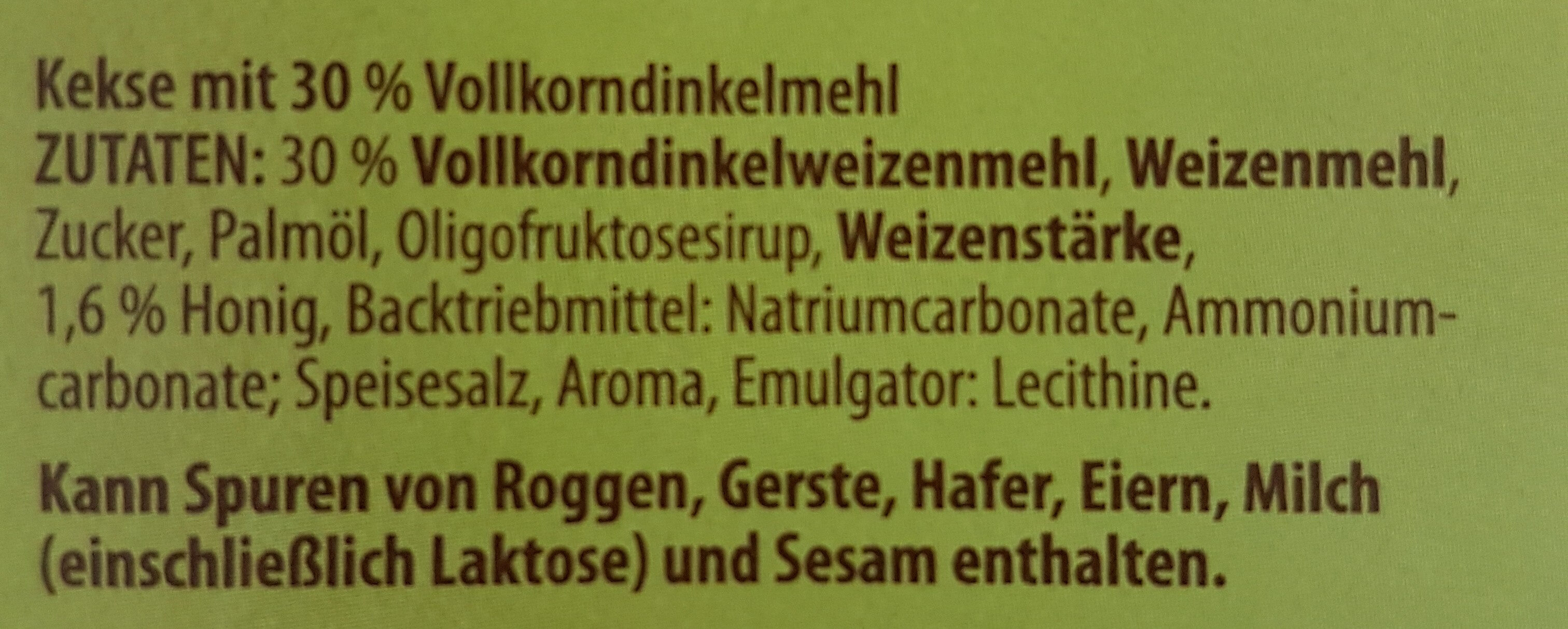 Buchstabenkekse - Ingrédients - de
