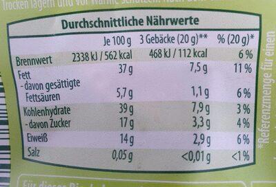 Vitalgebäck - Informations nutritionnelles - de