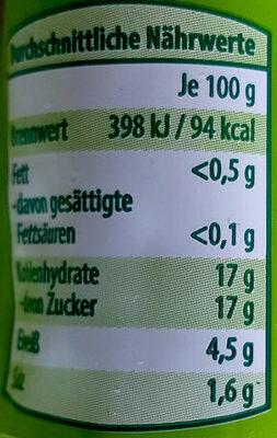 Tomaten-Mark Zweifach konzentriert - Nährwertangaben - de