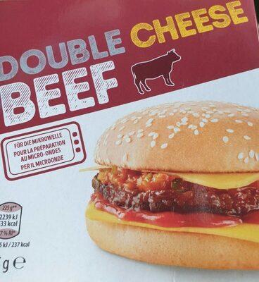 Double cheese burger beef - Produit - de