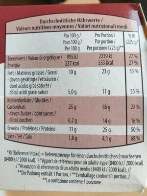 Double cheese burger beef - Informations nutritionnelles - de