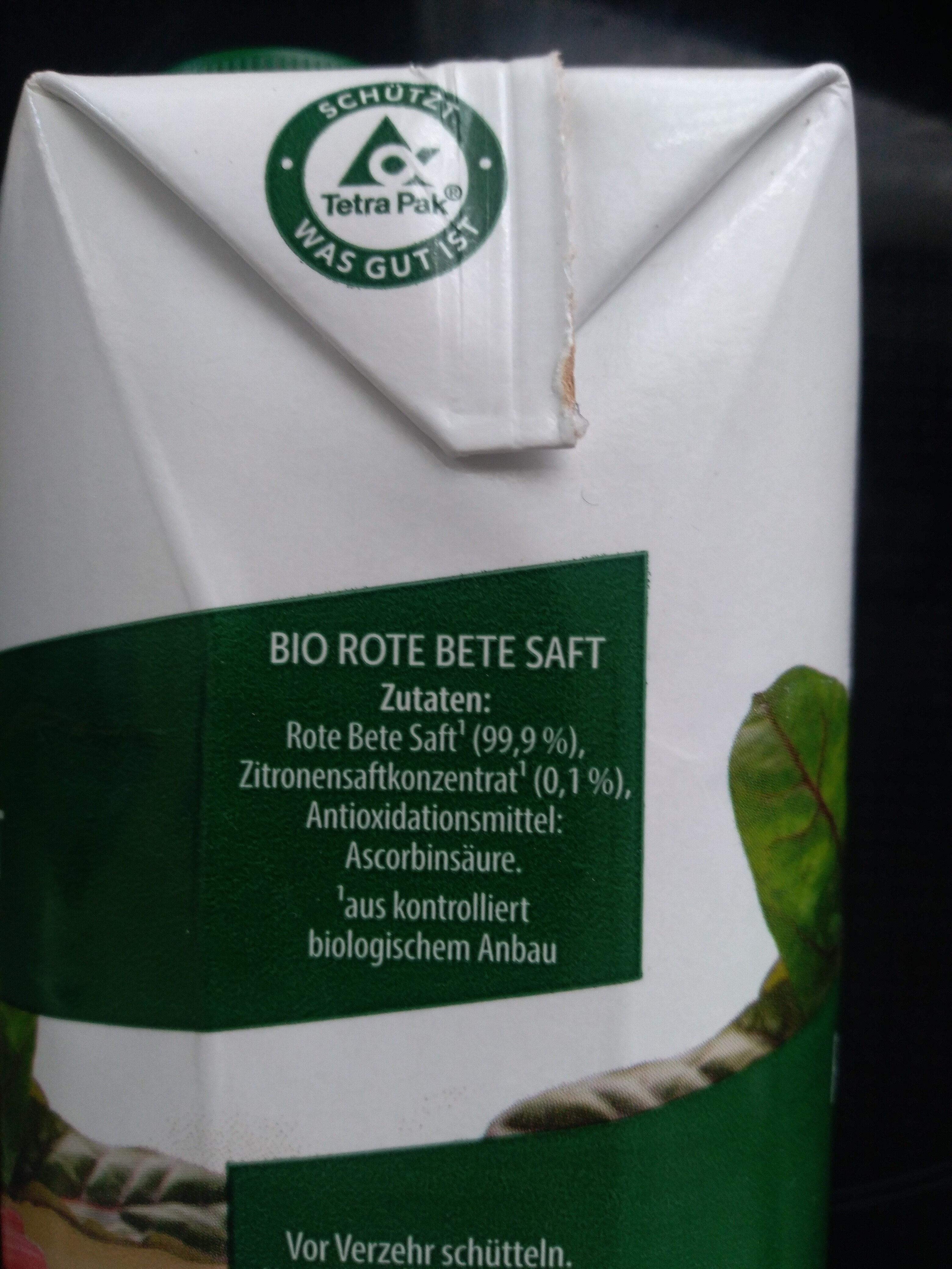 Rote Bete Saft - Ingrédients - de
