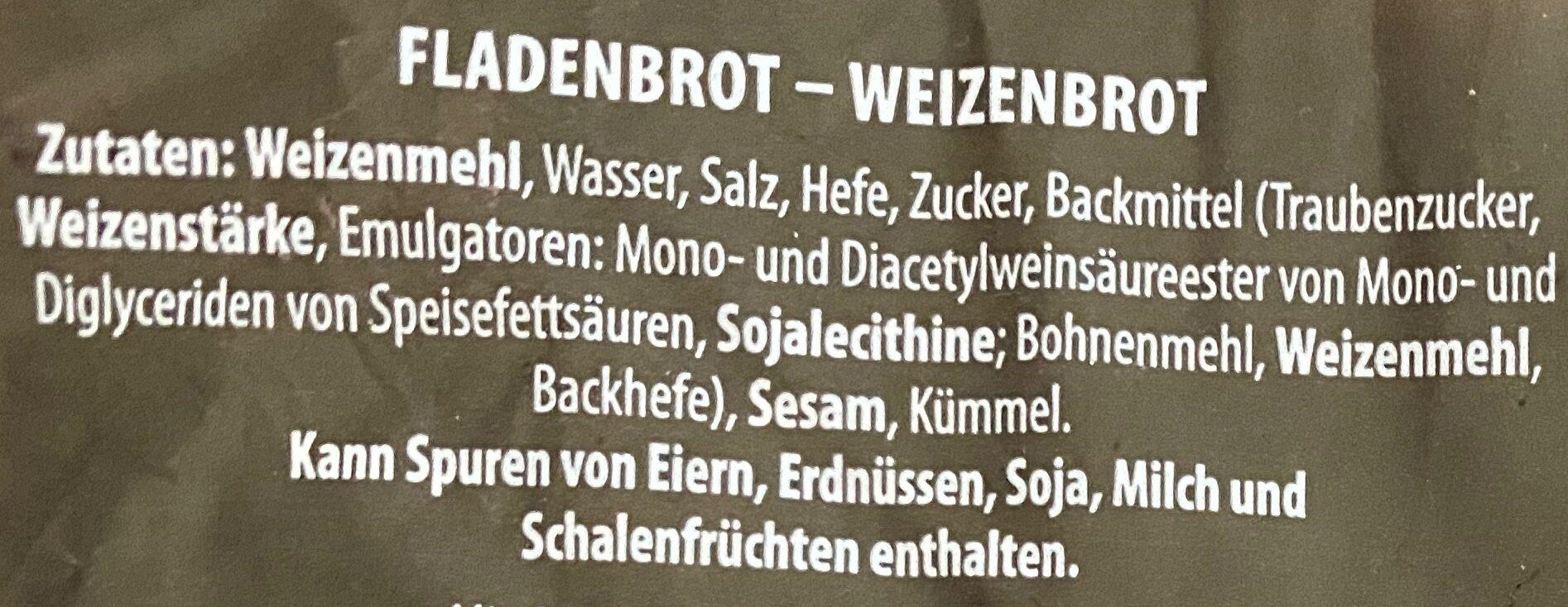 Fladenbrot - Ingredients - de