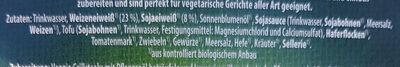 Veggi Grillsteaks - Ingredients - de