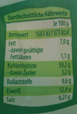 Basis müsli - Nutrition facts