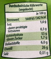 Bio-Strozzapreti - Nutrition facts - de