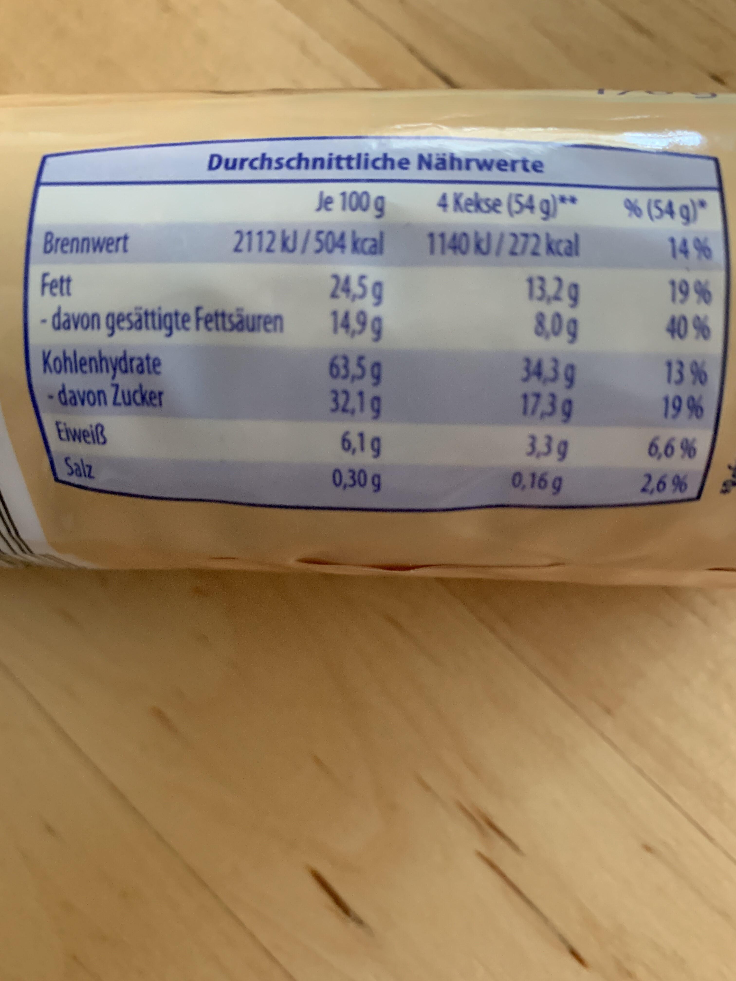 Müsli Duo Chia Heidelbeere - Nutrition facts