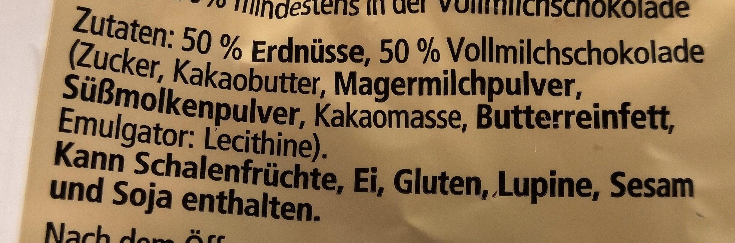 Erdnussberge mit Vollmilchschokolade - Zutaten - de