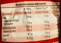 Lebkuchen-Herzen - Voedingswaarden