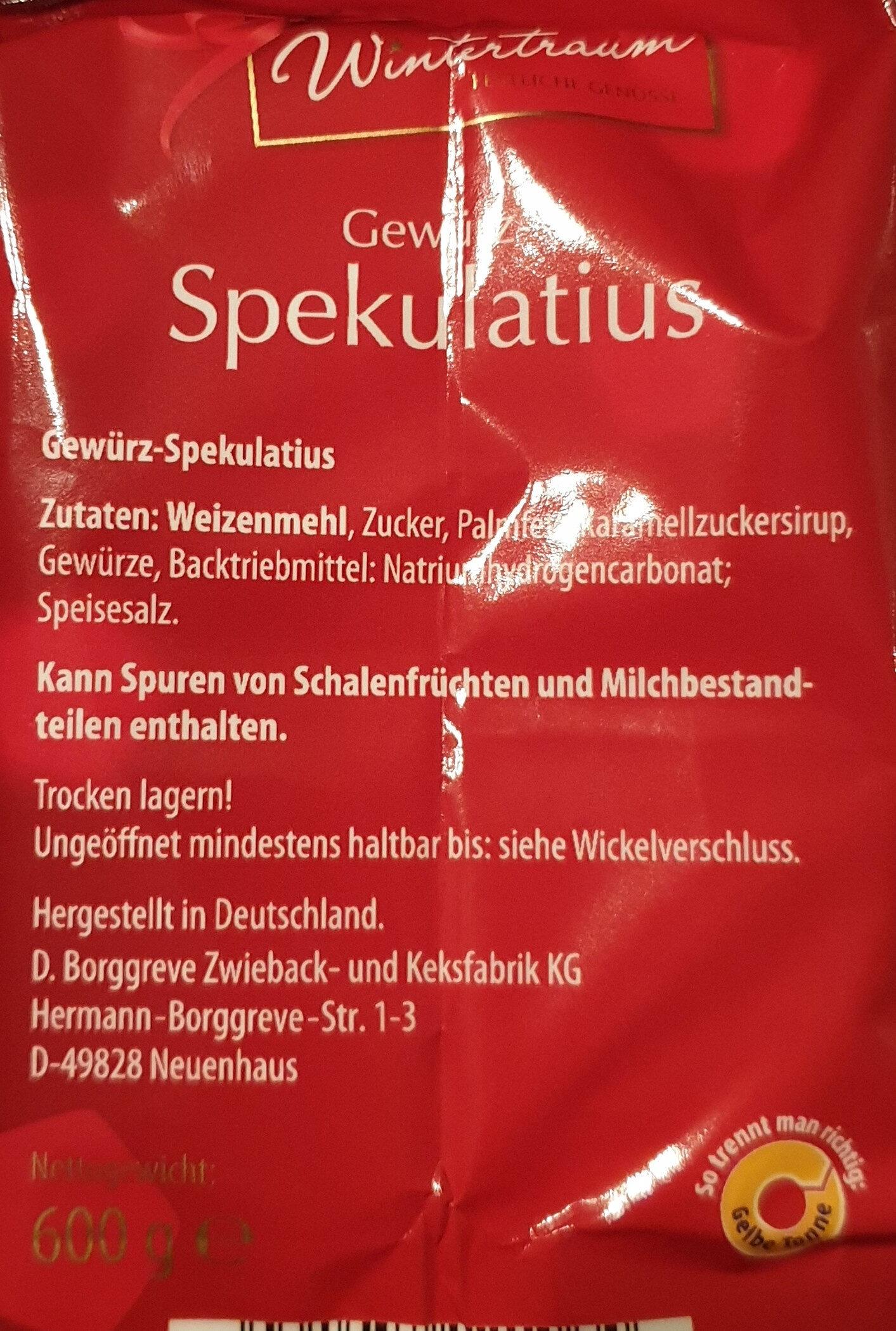 Spéculos allemand - Ingredients