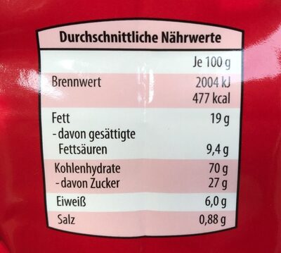 Spéculos allemand - Nutrition facts