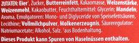 Baumkuchen mit Zartbitterschokolade - Ingrédients - de