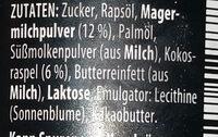 Weisse Kokoscreme - Ingredients